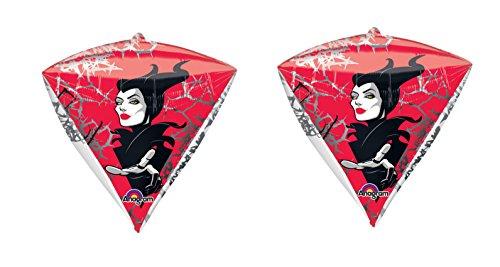 2 Disney Maleficent Diamondz Four Sided Mylar Balloons