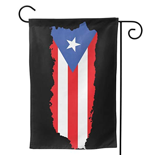 Season Garden Flags -Puerto Rico Garden Flags - Double Sided Outdoor Holidays Yard Flags - Made of Polyester with Anti- ¨C Holidays Flags for 12 Months - 12.5¡±x18¡± Size