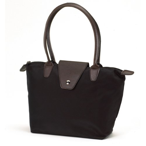 Solid Long Handle Fold Up Tote