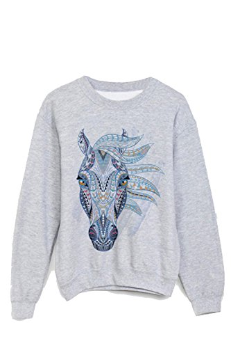 Sweat-Shirt imprimé cheval ref 1192 - XL
