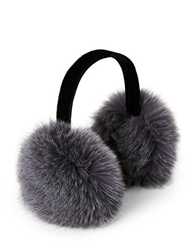 Ear Muffs Fox Fur (Dark Grey)