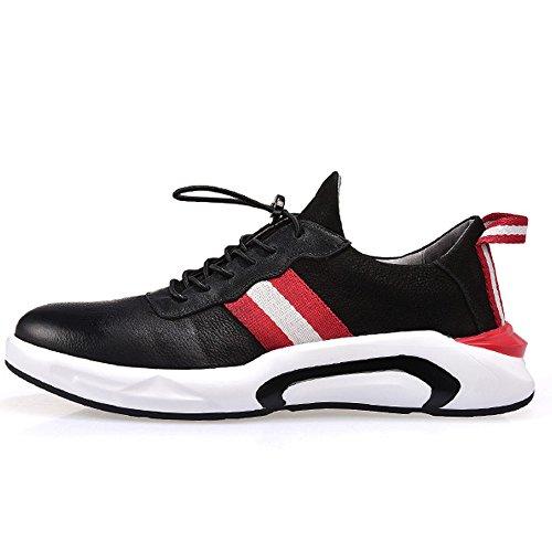 Deportes Los De Marea Color GOLDGOD Los Zapatos Zapatos Zapatos Hombres De Zapatos Casuales Blackred De De De Cuero Zapatos De Salvaje Hombres Blanco wx440tavqR