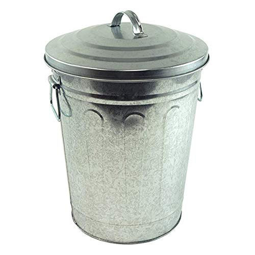 Steven Raichlen Best of Barbecue Galvanized Charcoal and Ash Can with Lid --