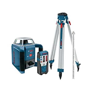 Bosch GRL400HCK Exterior Self-Leveling Rotary Laser Complete Kit with Receiver, Tri-Pod, Grade Rod, and Hard Case