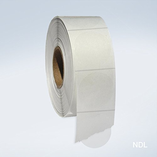 Clear Round Seals Labels, 1 Inch Round Wafer Seals, 1000 Labels Per Roll, 1 Roll Per Pack]()