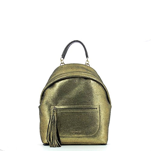 COCCINELLE Backpack LEONIE METAL SUEDE Female Leather Gold - E1AN3140101038