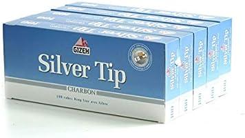 Caja de 100 tubos de filtro Gizeh Silver Tip carbón con 5 x: Amazon.es: Hogar