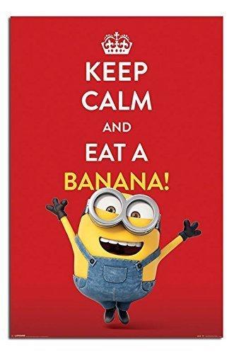 minions keep calm and eat a banana poster maxi 91 5 x 61cms 36 x