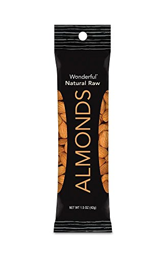 Wonderful Almonds, Natural Raw, 1.5-oz Bags (Pack of 12)