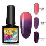 #9: Modelones UV LED Color Changing Mood Chameleon Gel Nail Polish 0.33 OZ - Sweet Orange