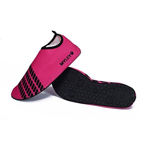 Män Kvinnor Pull-on Snabb Torr Hud Vattensporter Aqua Skor Strumpor Utomhus Sneaker Holey Ventilation Kpu Yttersula 4red