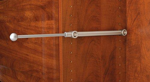 Closet Valet - Rev-A-Shelf - CVR-12-SN - 12 in. Satin Nickel Pull-Out Designer Valet Rod