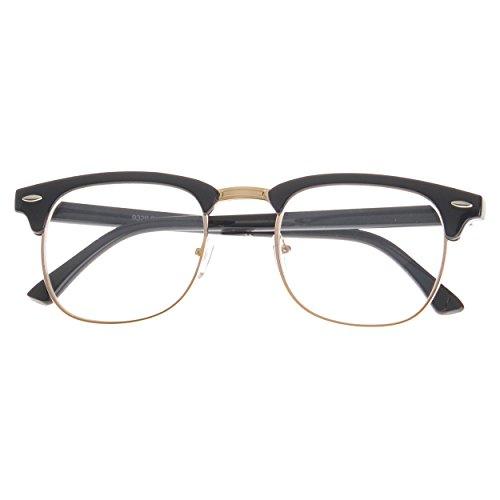 MLC Eyewear ® Soho Retro Square Fashion Sunglasses in Black-gold Clear - Frames Soho Eyewear