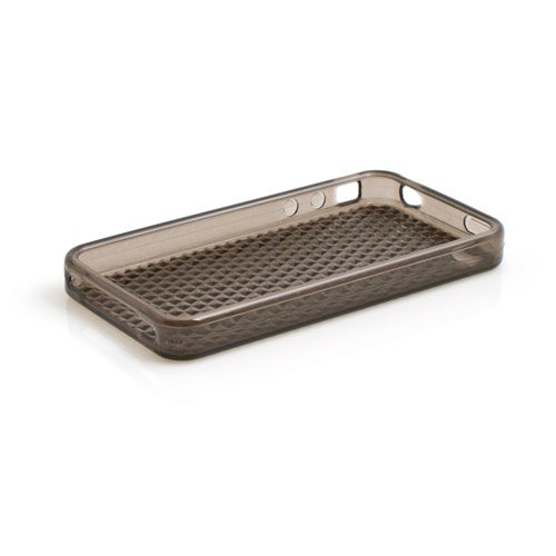 System-S Dunkel-Transparente Silikon Skin Hülle Case für Apple iPhone 4