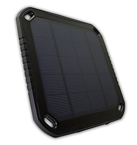 Mobonx Solar Power Charger - Portable Solar Power Bank Charger - High Capacity 5600mah Dual USB Power Bank with LED Lights - Rain/Shatter-Proof External Charger for iPhone/iPad, Smartphones, Tablets by Mobonx