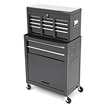 Trueshopping® Tool Cabinet Large Steel Chest 2 Piece Rollcab ...