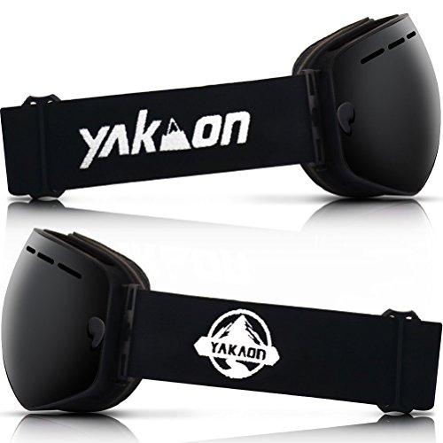 2cd731850e6 YAKAON Y1 Ski Snowboard Snow Goggles with UV Protection Anti-fog Spherical OTG  Anti-slip Strap for Men Women