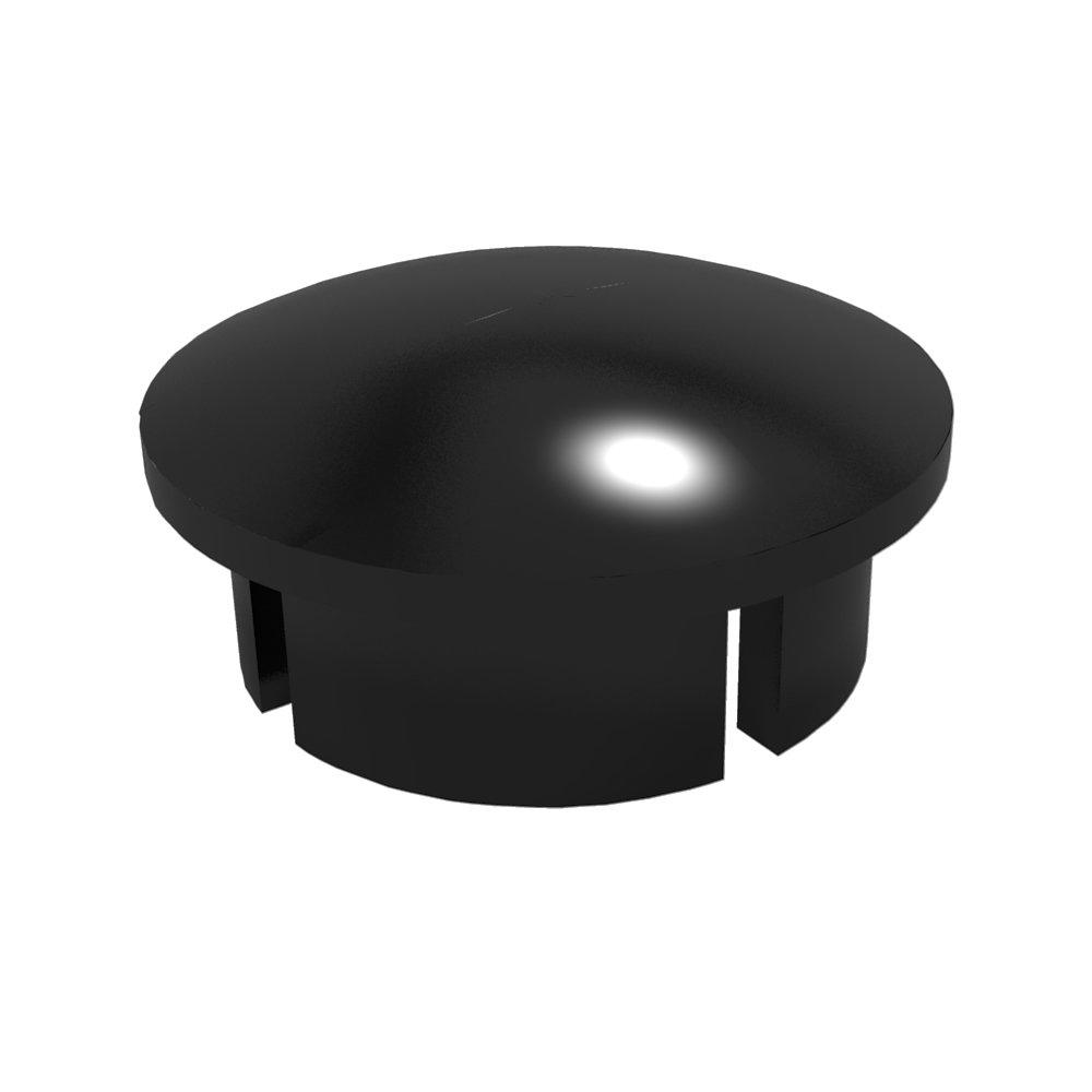 FORMUFIT F012IDC-BK-10 PVC Internal Domed End Cap, Furniture Grade, 1/2'' Size, Black (Pack of 10)