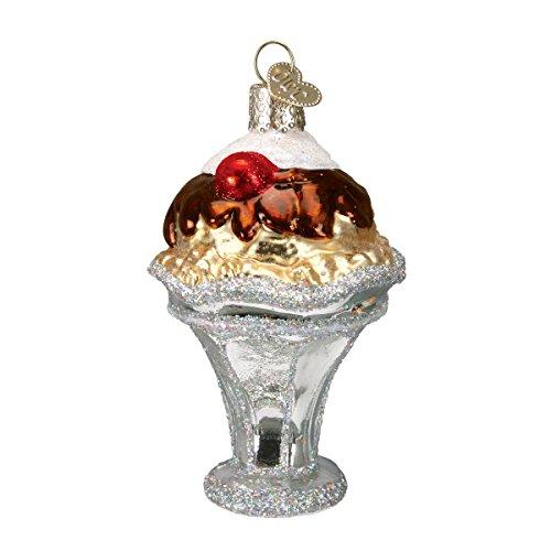Old World Christmas Ice Cream Sundae Glass Blown (Ice Cream Christmas Ornaments)