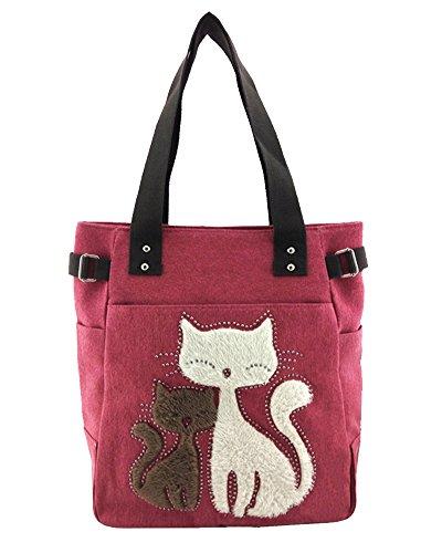 and Medium Case Girls for Canvas Gray Strap Laptop Satchel University Red Women Black Bag College Messenger Shoulder vpvn1YPr