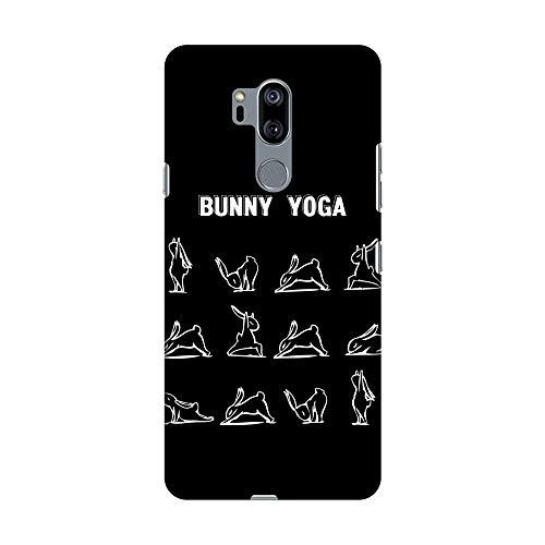 Amzer - Carcasa rígida para LG G7, LG G7 ThinQ, diseño de Conejos de Yoga, Muy Ligero, Ajuste Delgado, Hecha a Mano