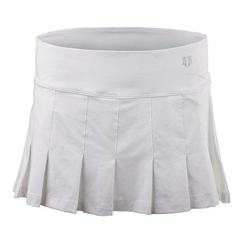 Eleven by Venus Williams Women's Core 12'' Flutter Skirt White Small