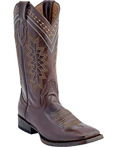 Ferrini Mens Apache Square Toe Boots Choc WOz8x3