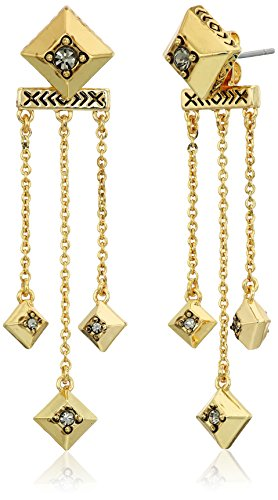 House of Harlow 1960 The Lyra Dangle Gold Drop Earrings