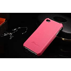 WEV Lychee Genuine Cowhide Leather Full Body Case for iPhone 4/4S(Assorted Colors) , White