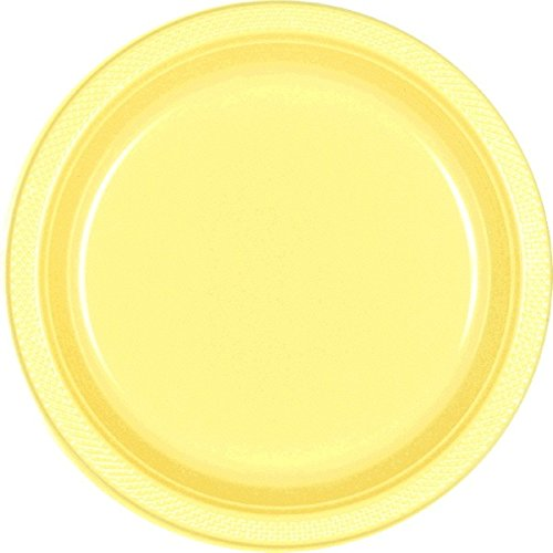 Light Yellow Plastic Plates | 9