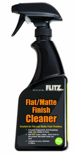 Flitz FM 11506 Flat Matte Finish Cleaner, 16 oz. Spray Bottle Back Black Finish