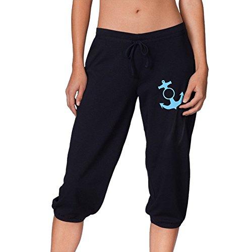 Funny Sunshine Sailor Fashion Relaxed Capri Pants For Women Black