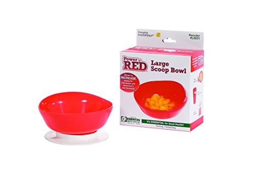 Essential Medical Supply Power of Red Scoop Bowl for Alzheimers and Dementia
