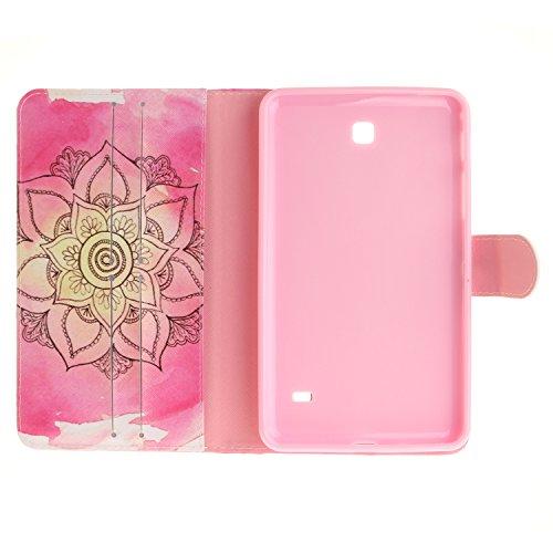 Qiaogle Tableta Case - Funda de PU Cuero Clamshell Carcasa Cover para Apple iPad Air 2 (2nd generation, iPad 6) - TX42 / Colorido Mandala TX40 / Rojo Mandala