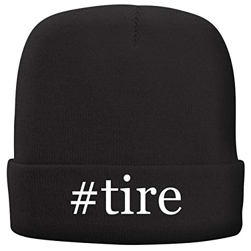 BH Cool Designs #tire - Adult Hashtag Comfortable Fleece Lined Beanie, Black