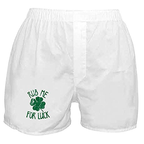 CafePress - Rub Me for Luck - Novelty Boxer Shorts, Funny Underwear White