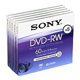 SONY DVD-RW 2.8Gb 8cm 60min Pack 5 camcorder mini