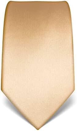 Vincenzo Boretti Men's Silk Tie - plain colored - many colors available