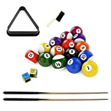 BIGTREE 4-Foot Foldable Portable Billiard Pool Game Table Includes Cues Triangle Rack Brush Chalk