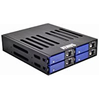 AMS Venus Mobile Rack DS-524SSBK 2.5 x 4 SATA Backplane drive Cage Hot Swap Removable Hard Drive Kits SAS/SSD/SATA RAID Ready