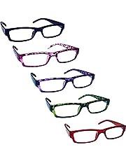 Het Leesbrilbedrijf Waarde 5 Stuks Lichtgewicht Mannen Vrouwen Zwart Blauw Bruin Groen Grijs Roze Purper Rood RRRRR32
