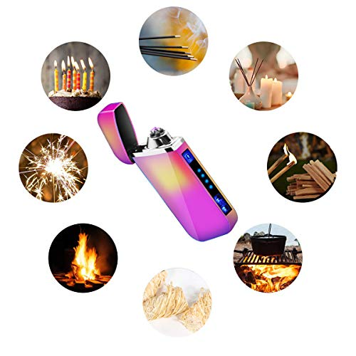 Veksun Lighter, Electric Plasma Arc Lighter Windproof USB Rechargeable Coil Lighter Magic Smart Cool Lighter for Camping, Fire Starter, Hunting, Backpacking,Hiking,EDC Gear