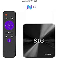 R-TV BOX S10 2017 Latest Version TV BOX Android 7.1 Amlogic S912 DDR4 3G/16G Octa Core Support 2.4G/5G Dual Band WIFI 1000M LAN 4K 3D with Remote Control US Plug