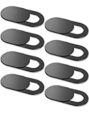 Webcam Cover Slide [8-Pack], Ultra Thin 0.027inch, KARWAAN Camera Privacy Cover with Strong Adhesive for MacBook Pro, Mac, iPad, iPhone, Laptop, Desktop [Black]