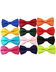 PET SHOW Pet Small Dogs Collar Attachment Bow Ties Puppies Cats Collar Charms Accessories Slides Bowties for Birthday Wedding Parties, Small, Polyester,