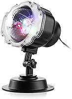Zanflare LED luces del proyector de efecto de nieve, LED paisaje de nieve amovible al aire libre y interior, a prueba de agua, focos con control remoto para Halloween, fiestas, Navidad, decoración de jardín casero