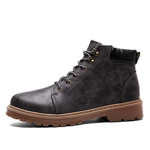 FHCGMX Echtes Leder Martin Stiefel für männer männliche Schuhe Erwachsene frühling Herbst Stiefeletten Komfort schnürschuhe