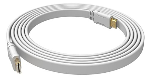 OPHION® HDMI Male to Male Cable for HDTV, DVD, Printer, Projector, LCD, LED, PS3, PS4, XBox One, XBOX 360, PC, Laptop Etc. White – 1.5 Meter