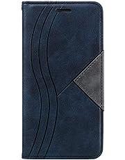 Hoesje voor iPhone XSMax Wallet Book Case, Magneet Flip Wallet met Kaarthouders slots Robuuste schokbestendige Bookcase voor Apple iPhone XS Max - JEYTB020076 Blauw