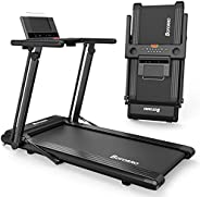 Folding Treadmill Exerciser Foldable Walk Running Machine Portable Treadmills for Home and Apartment LCD Displ
